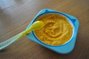 recette purée bébé de fenouil, carottes, patate douce, tomate, kiri avec le Nutribaby