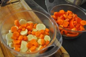 idée de recettes bébé avec du panais, carottes, poivrons réalisée avec le Nutribaby