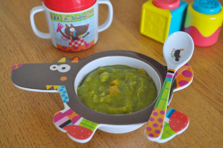 Risotto d'asperge vertes et fèves pour bébé