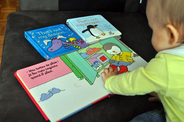 Livres éveil pour bébé Usborne et T'choupi