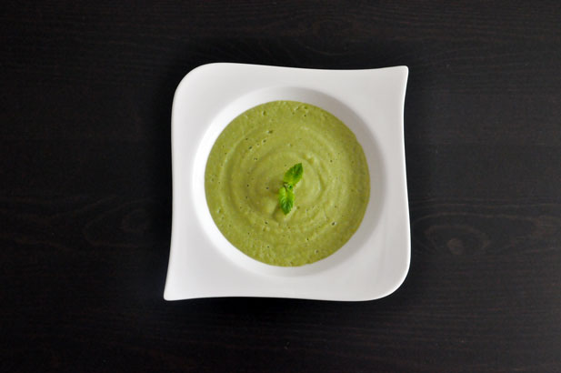 Crème de fèves, concombre te mozzarella pour bébé