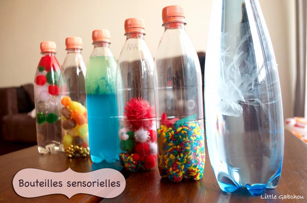 bouteilles sensorielles montessori activités