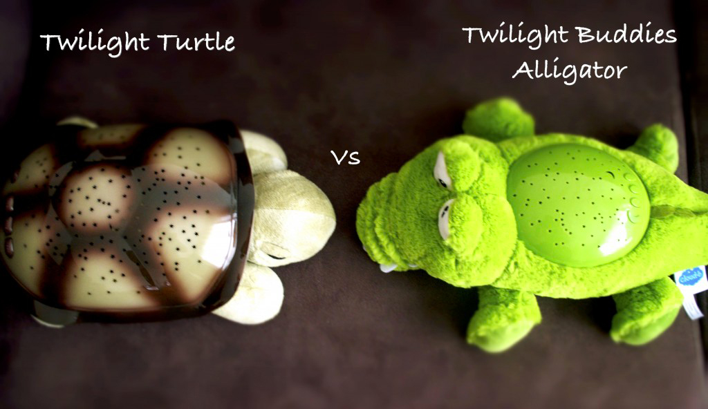 comparatif Twilight Turtle et Twilight Buddies Alligator