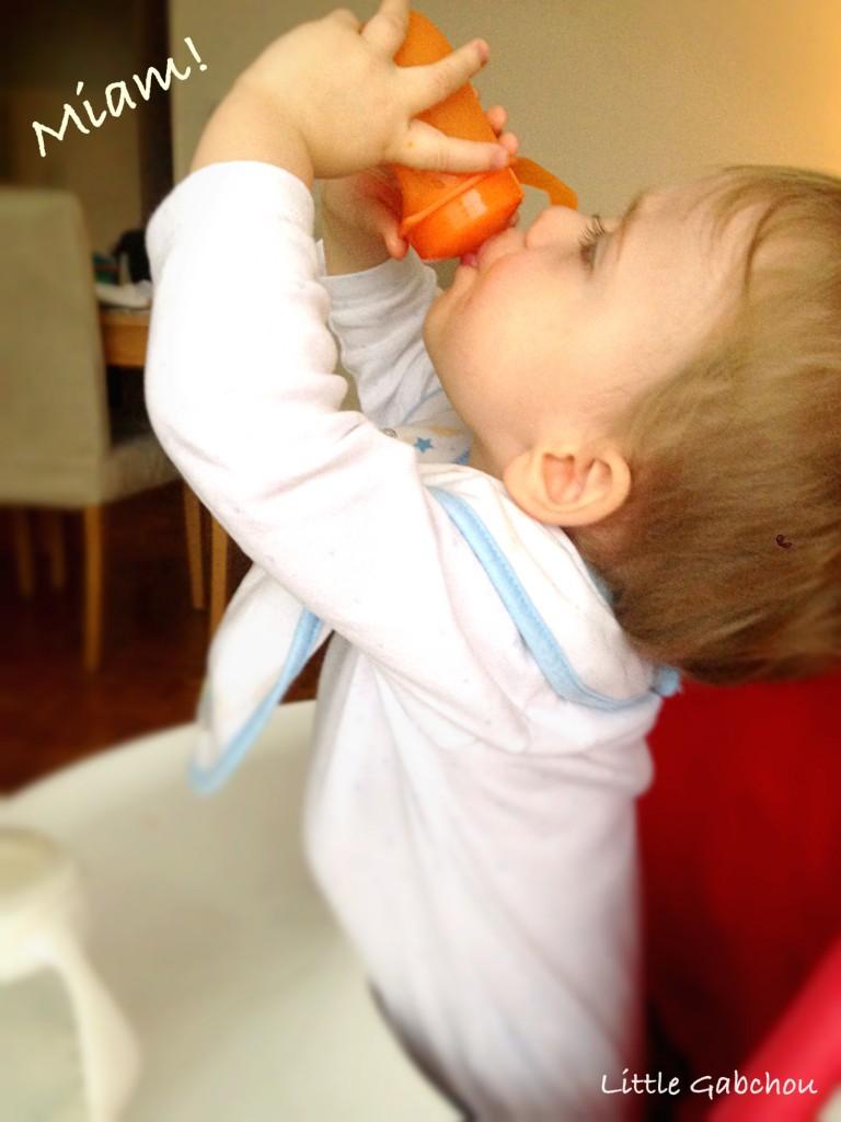 test gourde bébé Mastrad baby