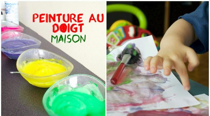 Peinture au doigt pour activité sensorielle Montessori Homemade finger paint montessori activities