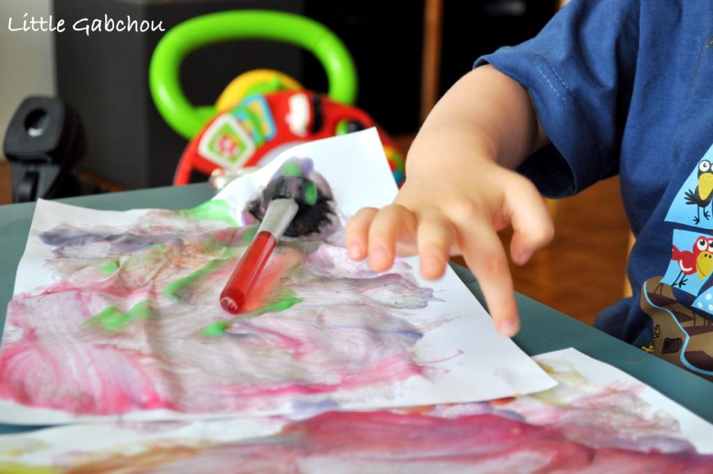 activité sensorielle peinture au doigt faite maison