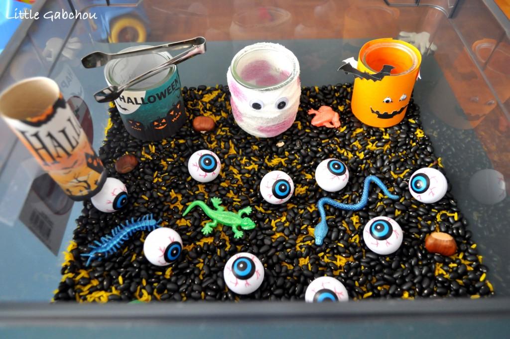 bac sensoriel activité sensorielle montessori
