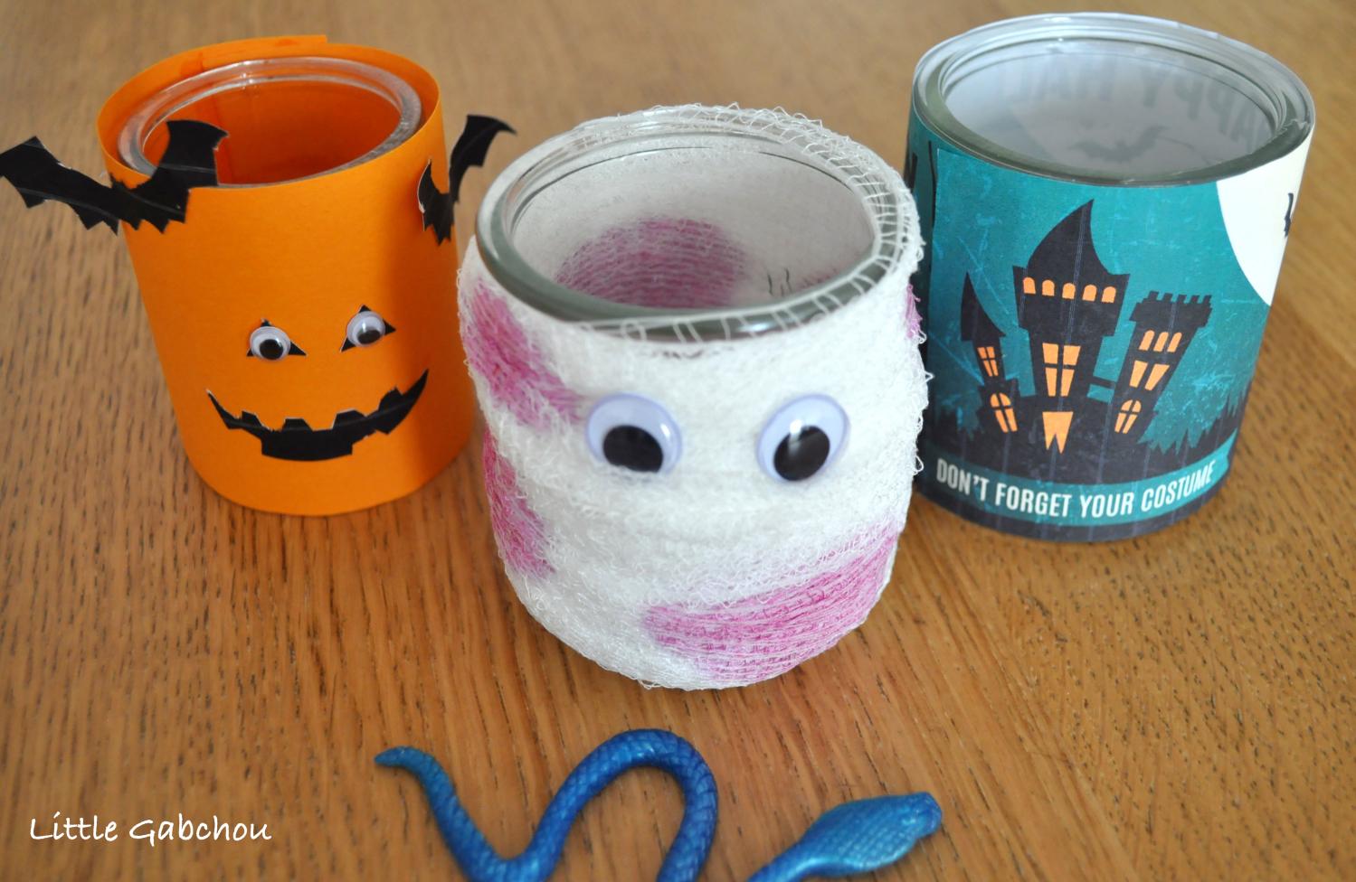 déco halloween diy halloween jars mummy