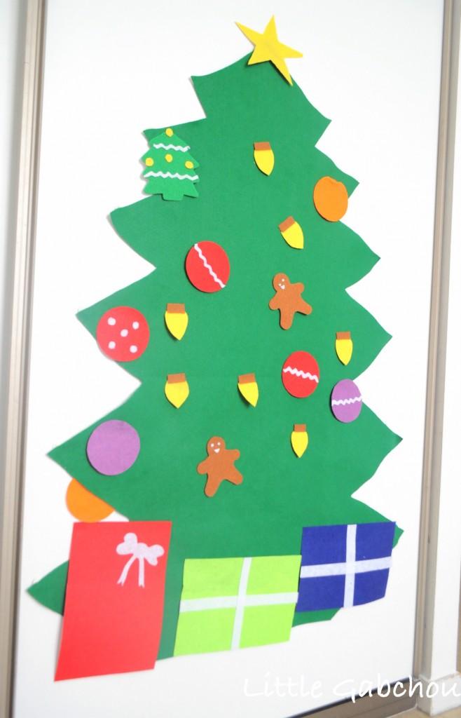 DIY sapin de Noel en feutrine Christmas felt tree