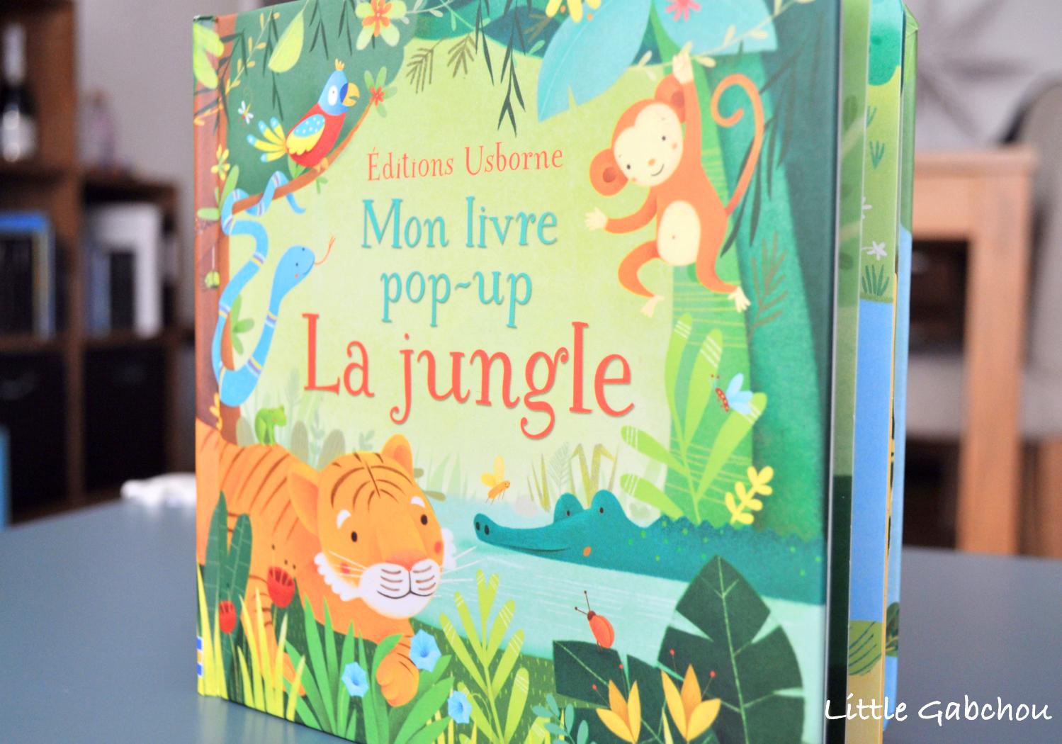 livre pop-up La jungle editions Usborne