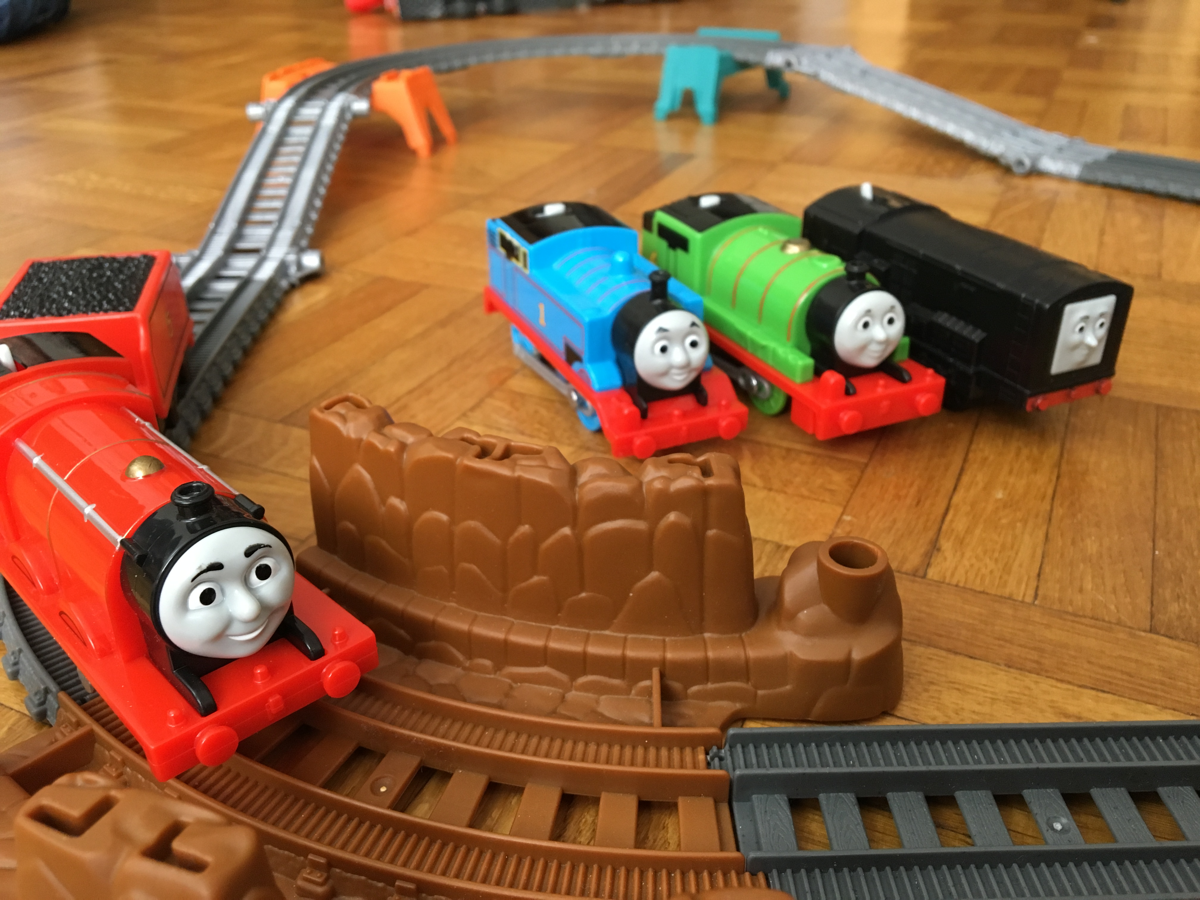 James, Percy, Thomas et Diesel : les train de Thomas et ses amis