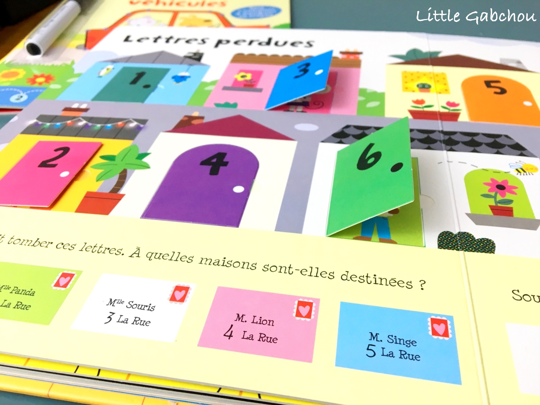 apprendre les nombre avec l'imagier à rabats, activités pour enfants