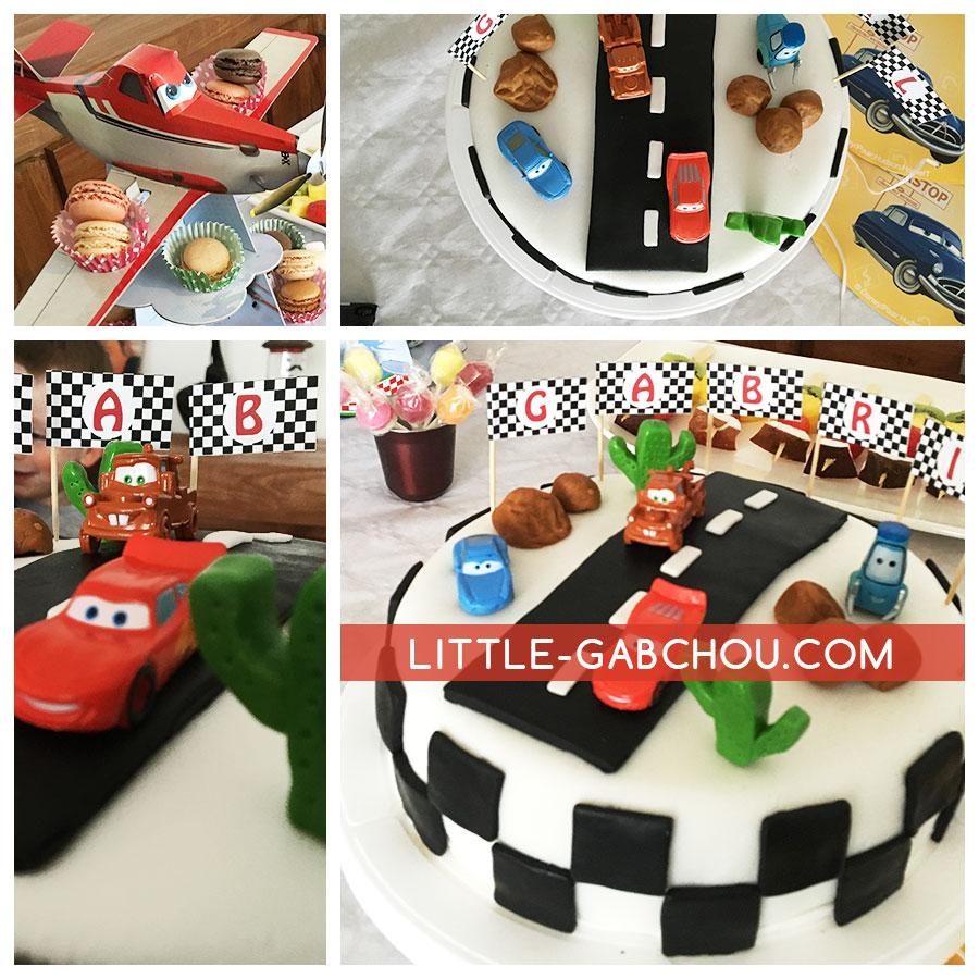 Présentation du gateau d'anniversaire sur le thème de Cars Disney - Cake design