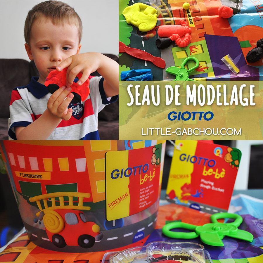 test seau de modelage Giotto bebe ativité pâte à modeler