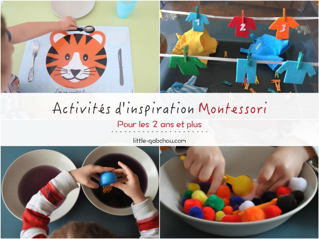 activites montessori enfants 2 a 3 ans