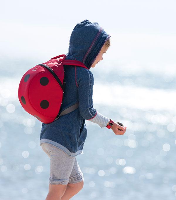 sac à dos 3D pour école maternelle coccinelle