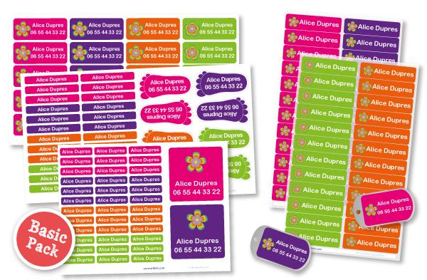 basic pack stikets étiquettes personnalisées