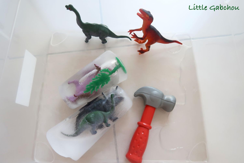 activite pour enfants dinosaures-en-glace