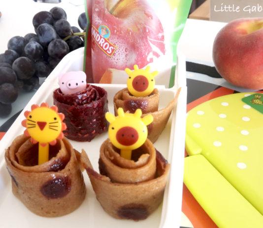 recette des rouleaux de fruits maison pour un goûter sain