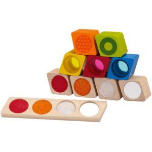 cubes à empilement sensoriels idée jouet montessori