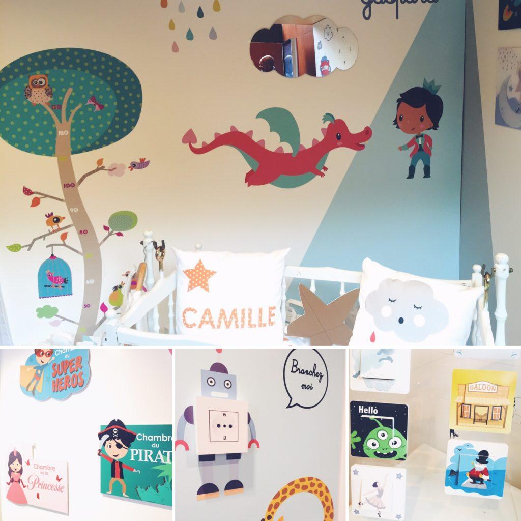 accessoires de décoration pour chambre d'enfant et bébé Decoloopio