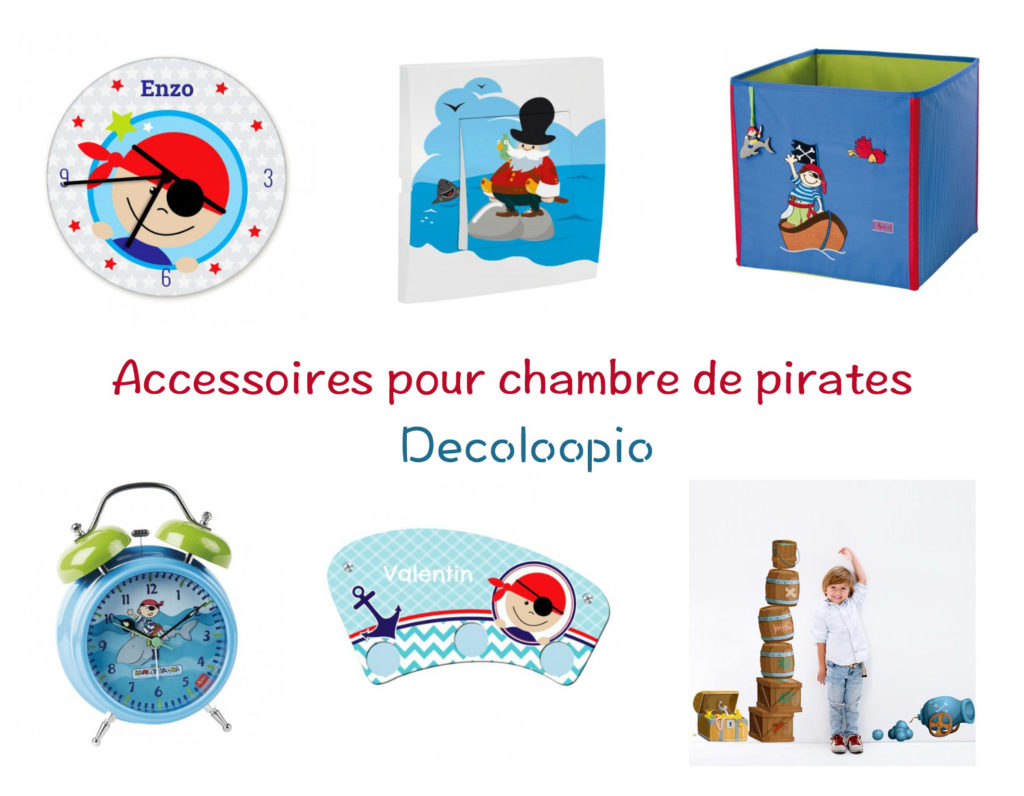 sélection d'accessoires pour chambre de pirate decoloopio