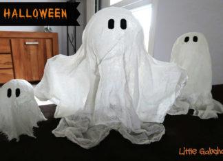 DIY fantômes d'Halloween qui flottent à faire avec les enfants