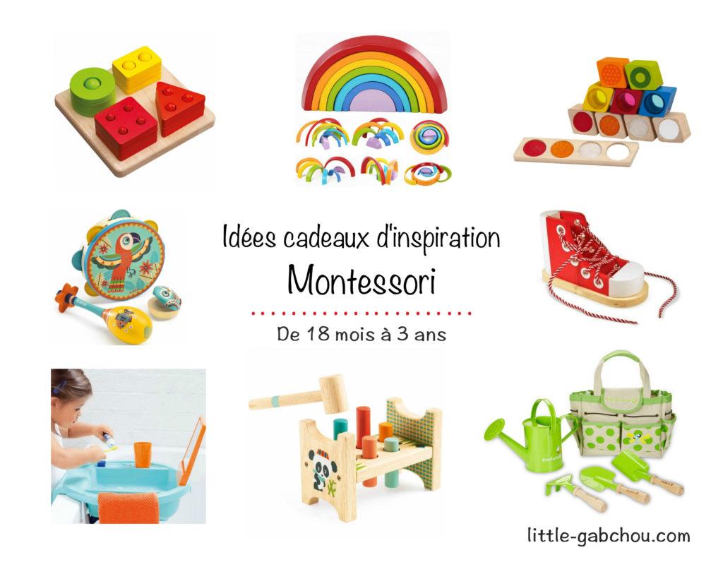 idées cadeaux et jouets pour enfants Montessori