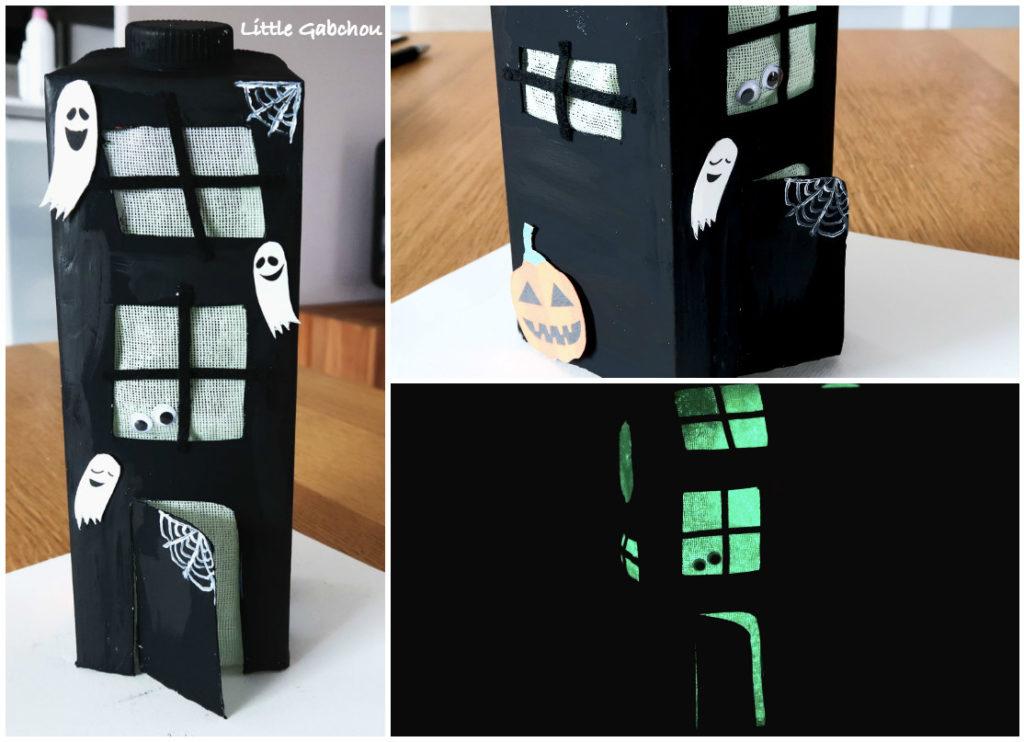 DIY la maison hantee en carton recyclé pour Halloween