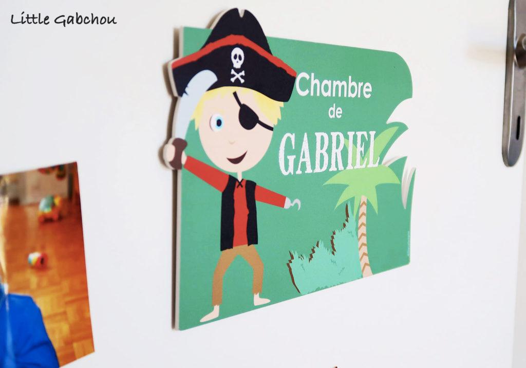 accessoires pour chambre de pirates garçons plaque de porte