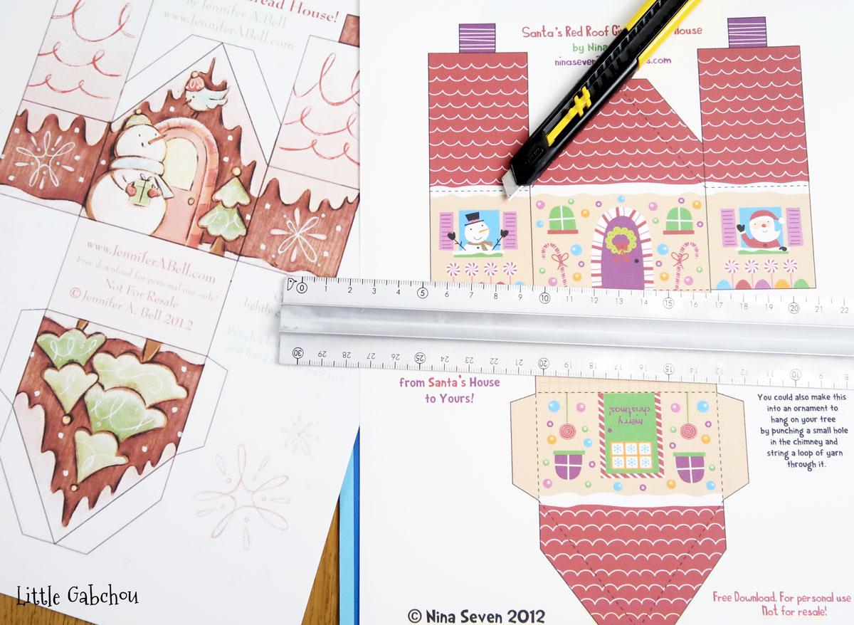Comment Faire Un Calendrier Fait Maison le calendrier de l'avent petites maisons - chez elkalin