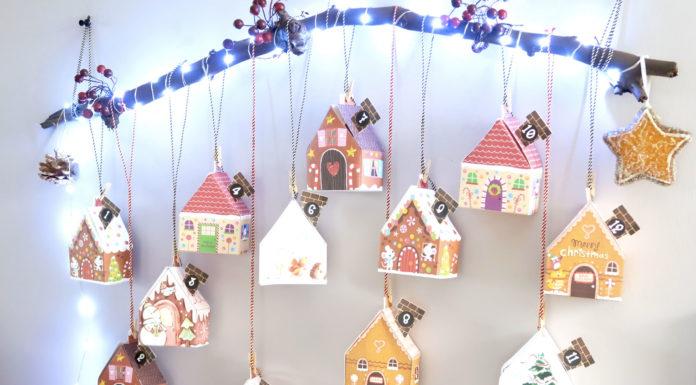 DIY calendrier de l'avent petites maisons avec tuto