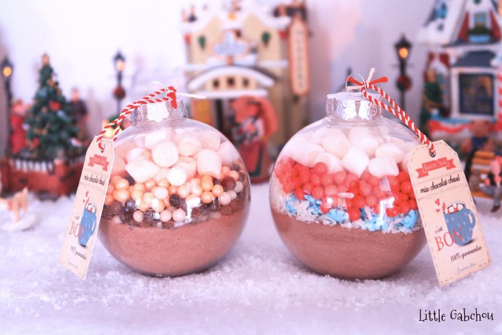 diy-cadeau-noel fait maison boules chocolat chaud