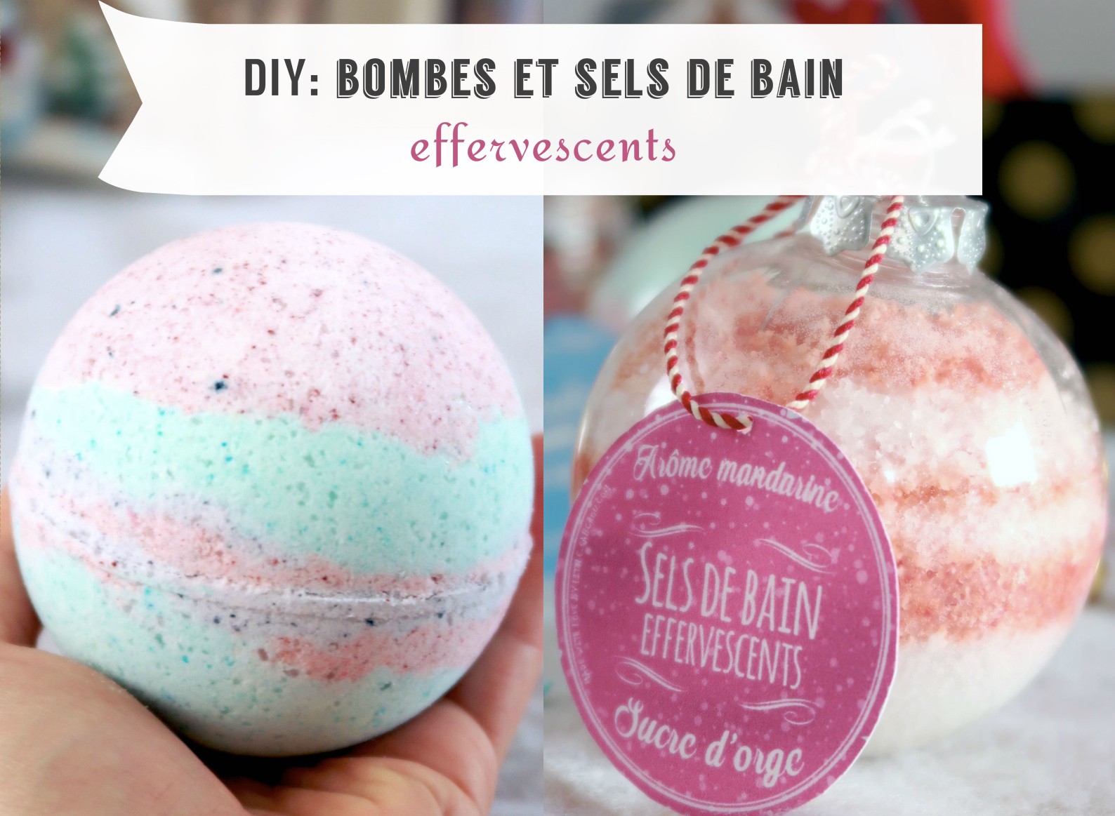 Tuto Bombe De Bain Façon Lush Et Sels De Bain Effervescents