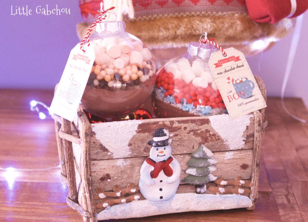 DIY idée cadeau de Noël les boules pour chocolat chaud