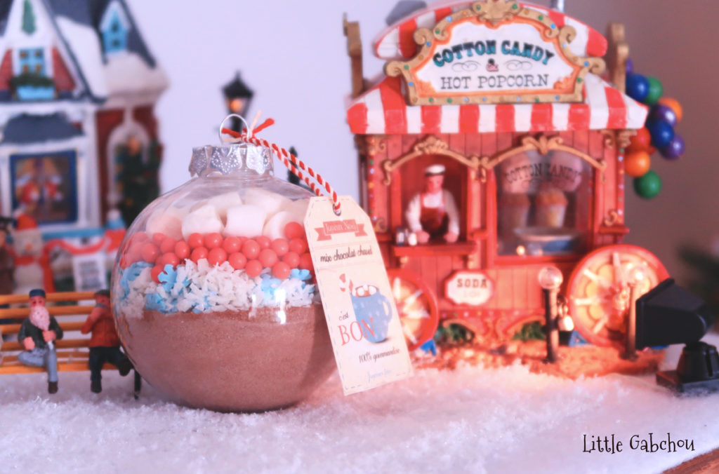 idée cadeau Noël fait maison, gift ideas Hot Cocoa Mix Ornaments