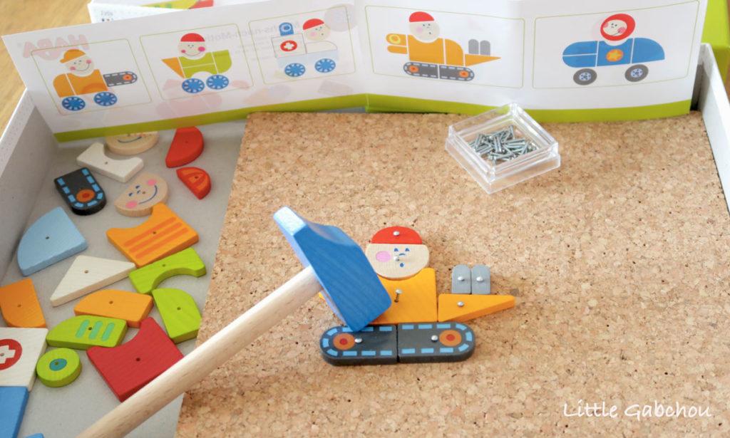 jeu de clous Haba activités Montessori à la maison