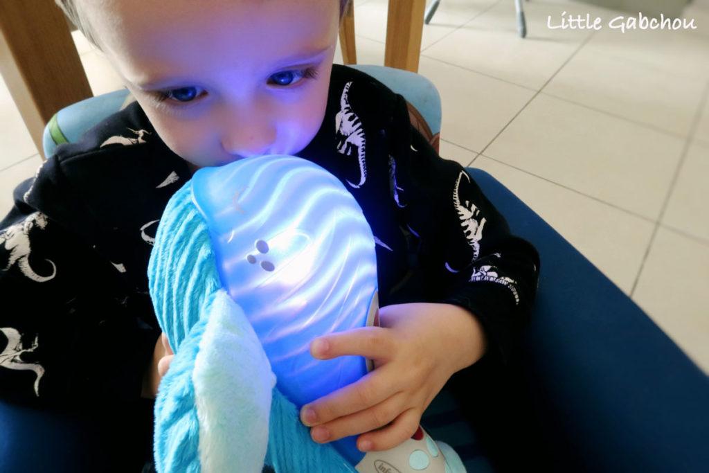 test de la veilleuse la plus originale ma tendre baleine d'Infantino
