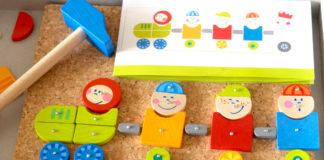 Jouets et jeux Montessori test du jeu de clous haba