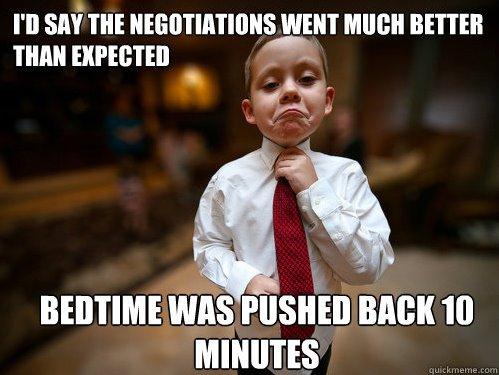 les négociations avec les enfants