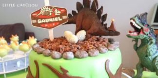 Anniversaire sur le thème des dinosaures pour petit garçon