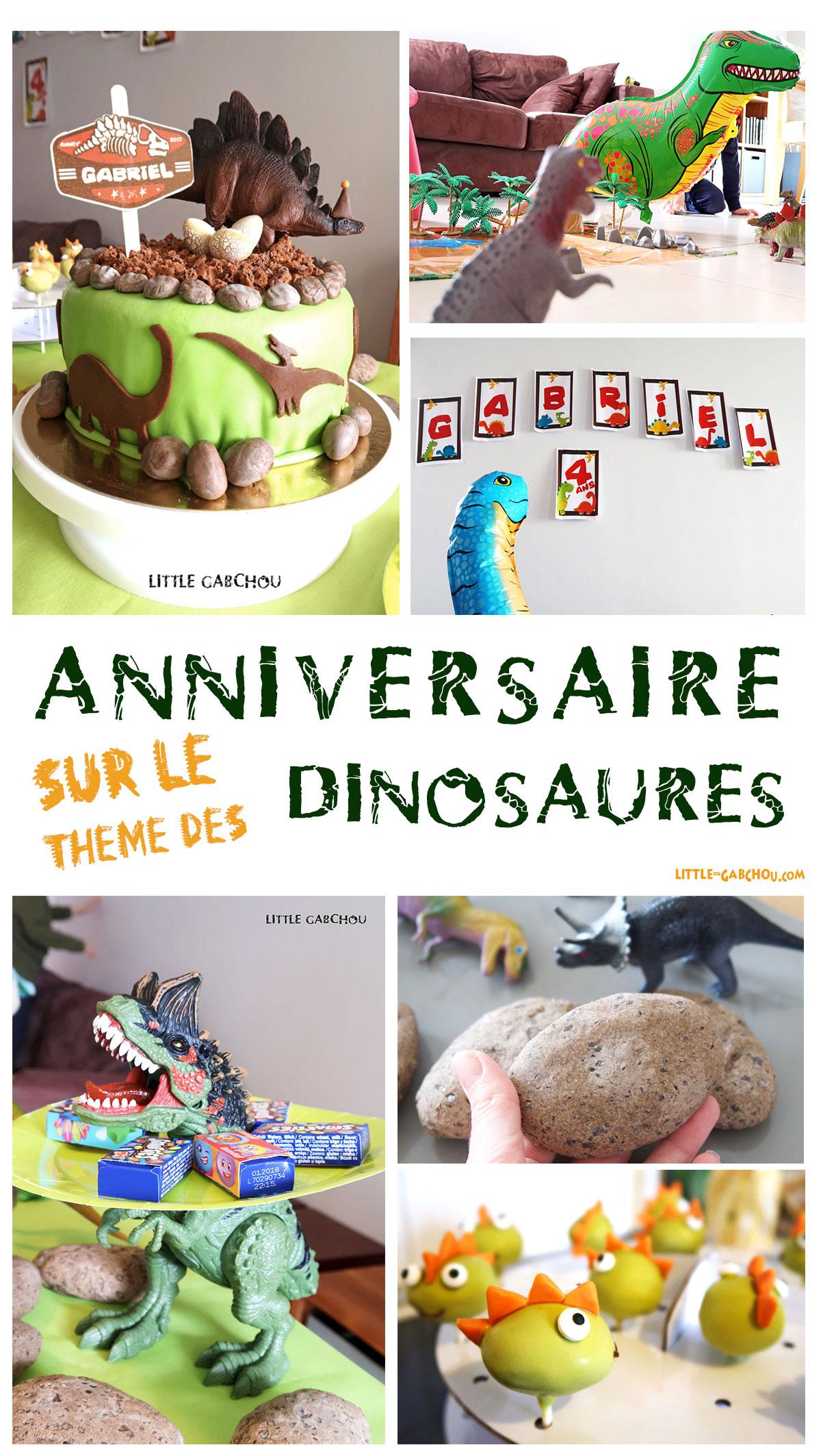 Fête D Anniversaire Sur Le Thème Des Dinosaures Pour Les 4 Ans De