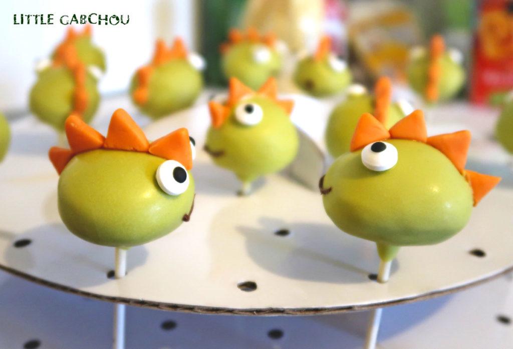 cake pops faciles dinosaure anniversaire petit garçon