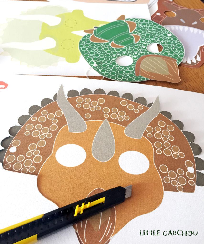 DIY masques de dinosaures à fabriquer soi-même
