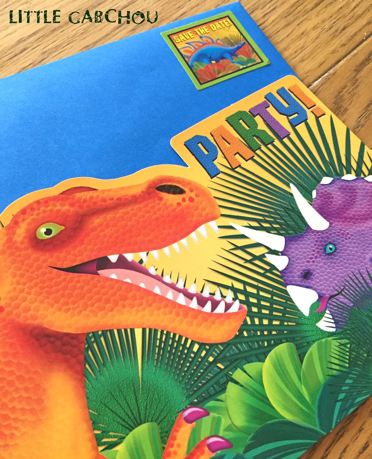 anniversaire à thème dinosaures