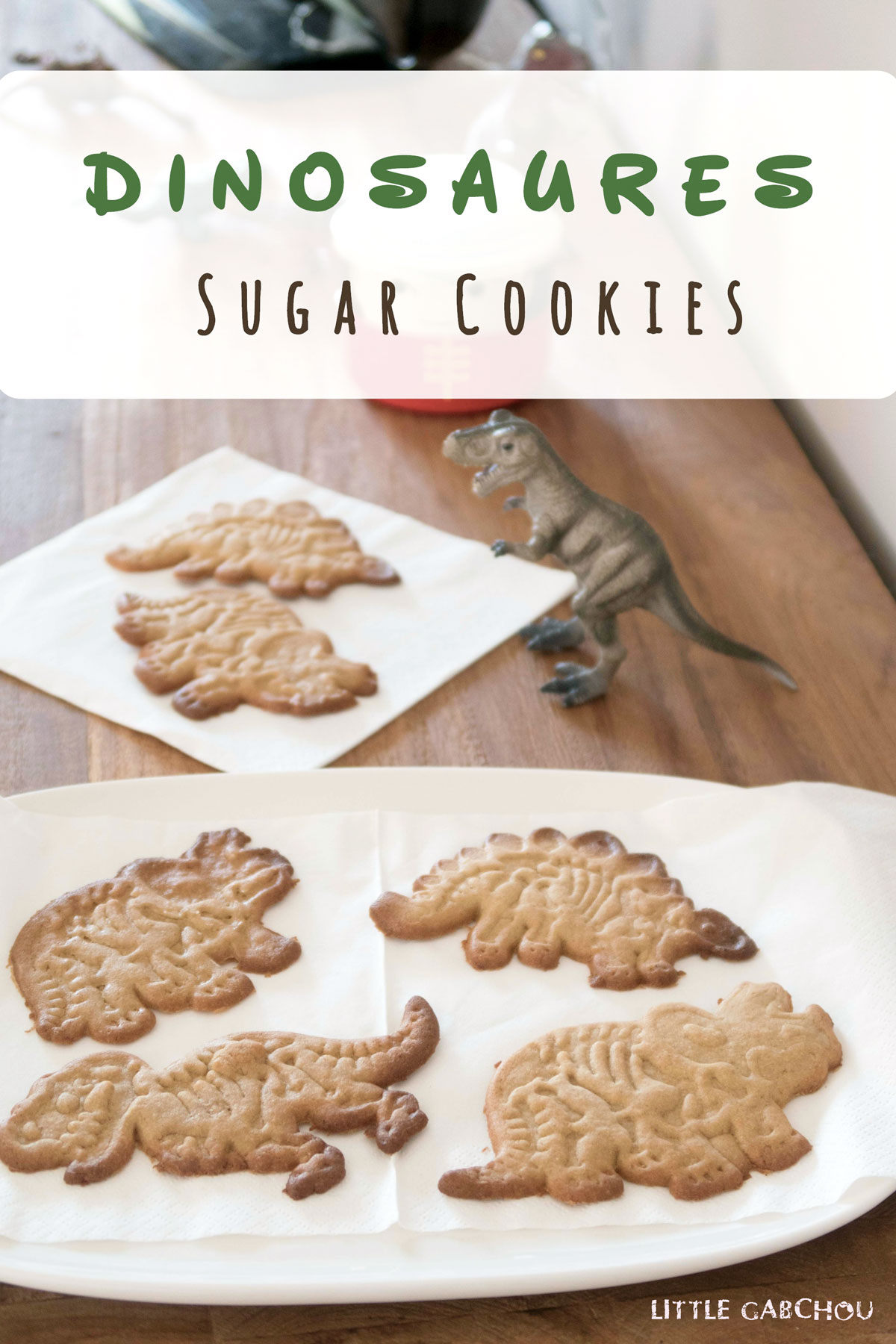 sugar cookies with coconut oil for dinosaur party