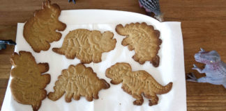 Sugar cookies dinosaurus à l'huile de coco