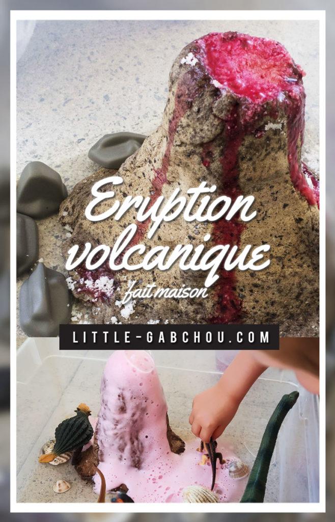 faire une éruption de volcan maison