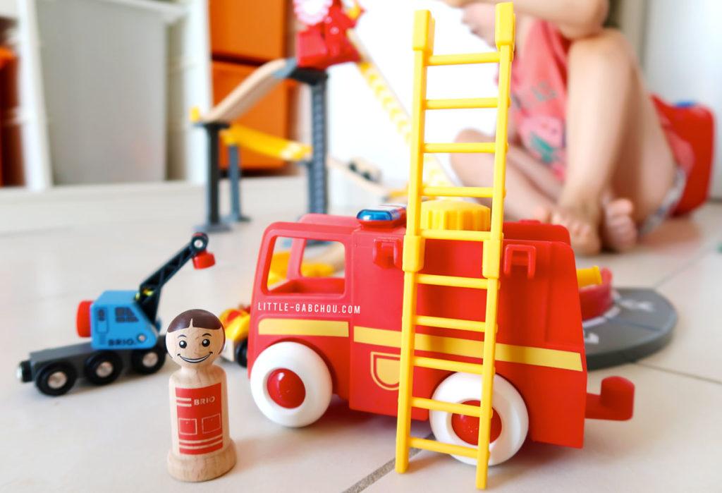 test camion de pompiers Brio gamme My Home Town