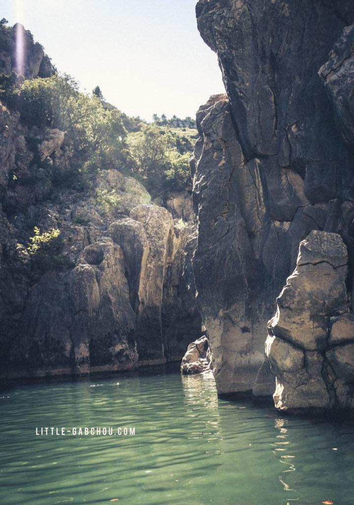 les gorges de l'Hérault en canoê